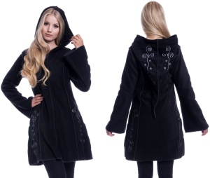 Embroidered Fleece Hood Fleecjacke mit Stickerei bis Plussize