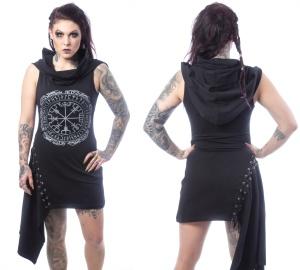 Asymetrisches Kleid mit Schalkapuze Vixxsin