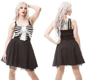 Kleid Skelett Ghost Town Vixxsin