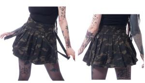 Minirock tarn Janice Skirt Heartless