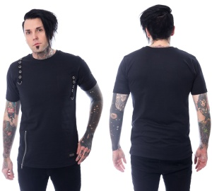 T-Shirt im Gothicstil Jash Top Vixxsin