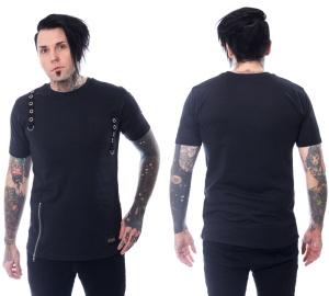 T-Shirt im Gothicstil Jash Top Vixxsin