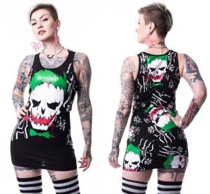 Longshirt Joker Skull Top Suicide Squad