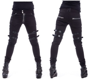 Joy Pant Skinnyjeans mit Beinschnallen Heartless
