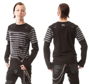 Herren Longsleeve mit Rissen Junction Shirt Vixxsin