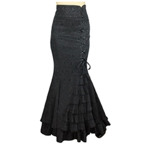 Gothic Fishtail Rock Brokat