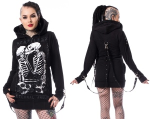 Damen Kapuzenjacke Skelett Karin Hood Heartless