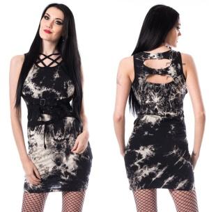 Krista Tie Dye Dress Heartless Batikkleid mit Schnallen