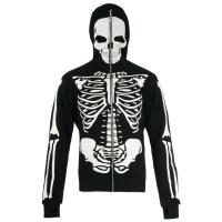 Full Zip Hoodie Skelett Jacke Jawbreaker