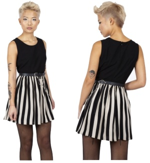 Circ le Soir Striped Skater Dress Jawbreaker