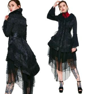 Rüschenblazer Damenjacke Gothic Romantik Jawbreaker