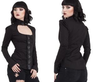 Damen Gothicbluse Jawbreaker