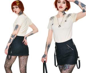 Denim Bondage Skirt Jawbreaker