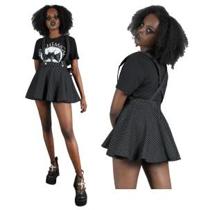 Minirock mit Hosenträgern Suspender Skirt Jawbreaker