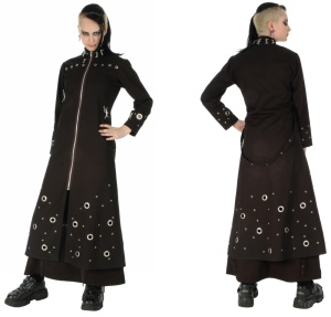 Damen Stoffmantel im Gothicstil Dead Threads