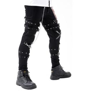 Gothic Hose mit Beinschnallen Dead Threads