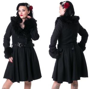 Linsy Coat Flokati Mantel Rockabella
