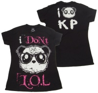 Girl Tshirt I dont lol Killer Panda