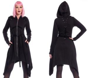 Gothicjacke lang Mistrust Hood Poizen Industries
