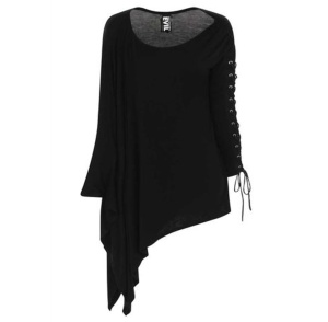 Asymetrisches Oversized Gothic Shirt Necessary Evil