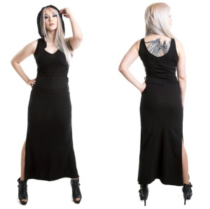 langes Sweatkleid mit Kapuze Heartless