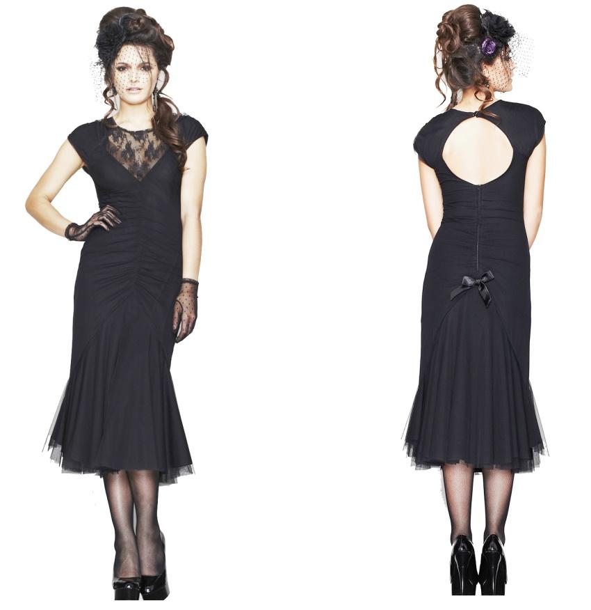 gothic kleid im stil der 20iger jahre ariana dress spin. Black Bedroom Furniture Sets. Home Design Ideas