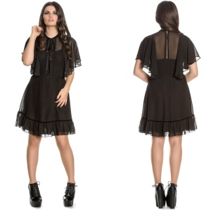 Imperia Gothic Dress Gothickleid mit Cape Spindoctor