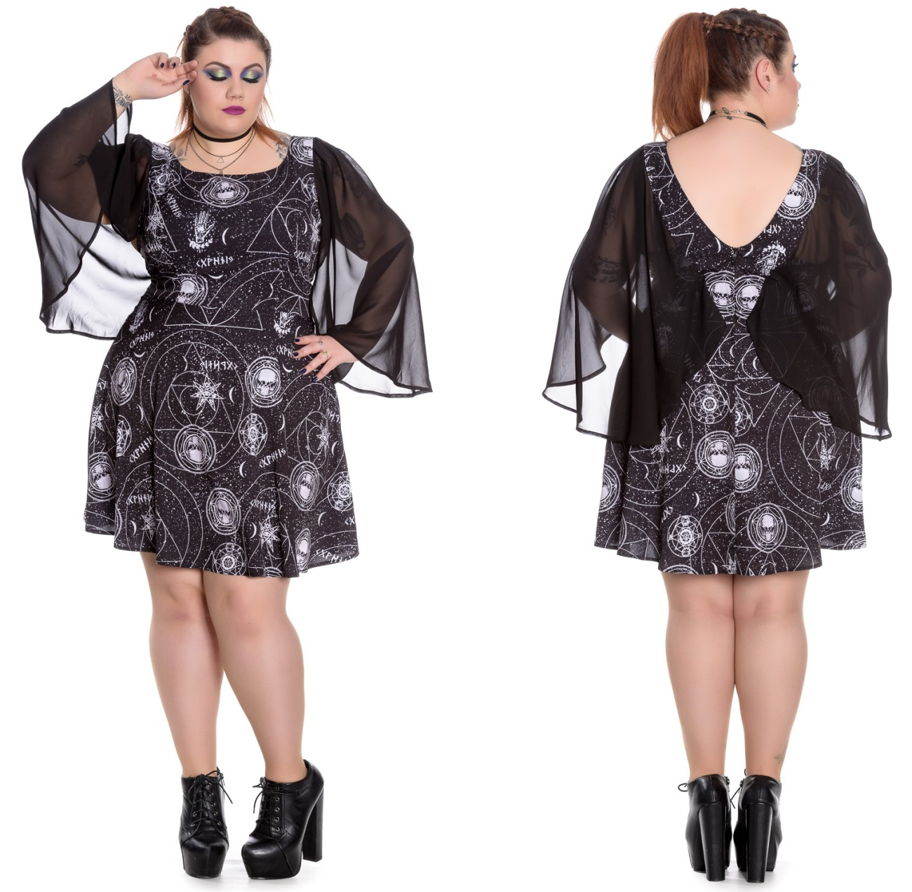 Lucille Dress/Gothicminikleid Spin Doctor Plussize - Spin Doctor ...