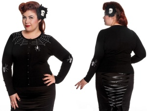 Cardigan Spider Plussize Hellbunny