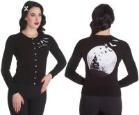Cardigan Fledermaus Strickjacke mit Gothicmotiv Hellbunny