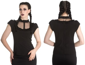 Vanessa Top Gothicbluse Spin Doctor