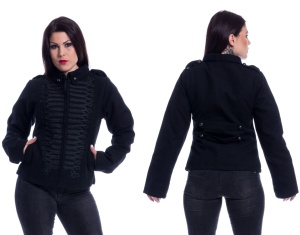 Black Parade Jacket Poizen Industries Damen Uniformjacke
