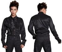 Gothic Männerhemd Pentagramme