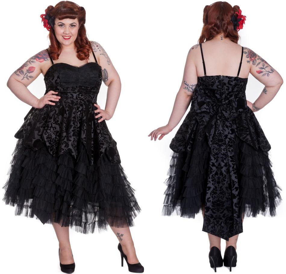 Gothic Kleid Lavintage Hellbunny Plussize - Hellbunny Kleider ...