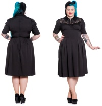 Gothic Kleid Connie Plussize Hellbunny