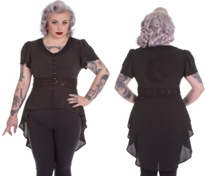 Ayla Chiffonbluse Gothicbluse Plussize Spin Doctor