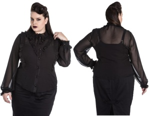 Gothicbluse Demetria Plussize Spin Doctor