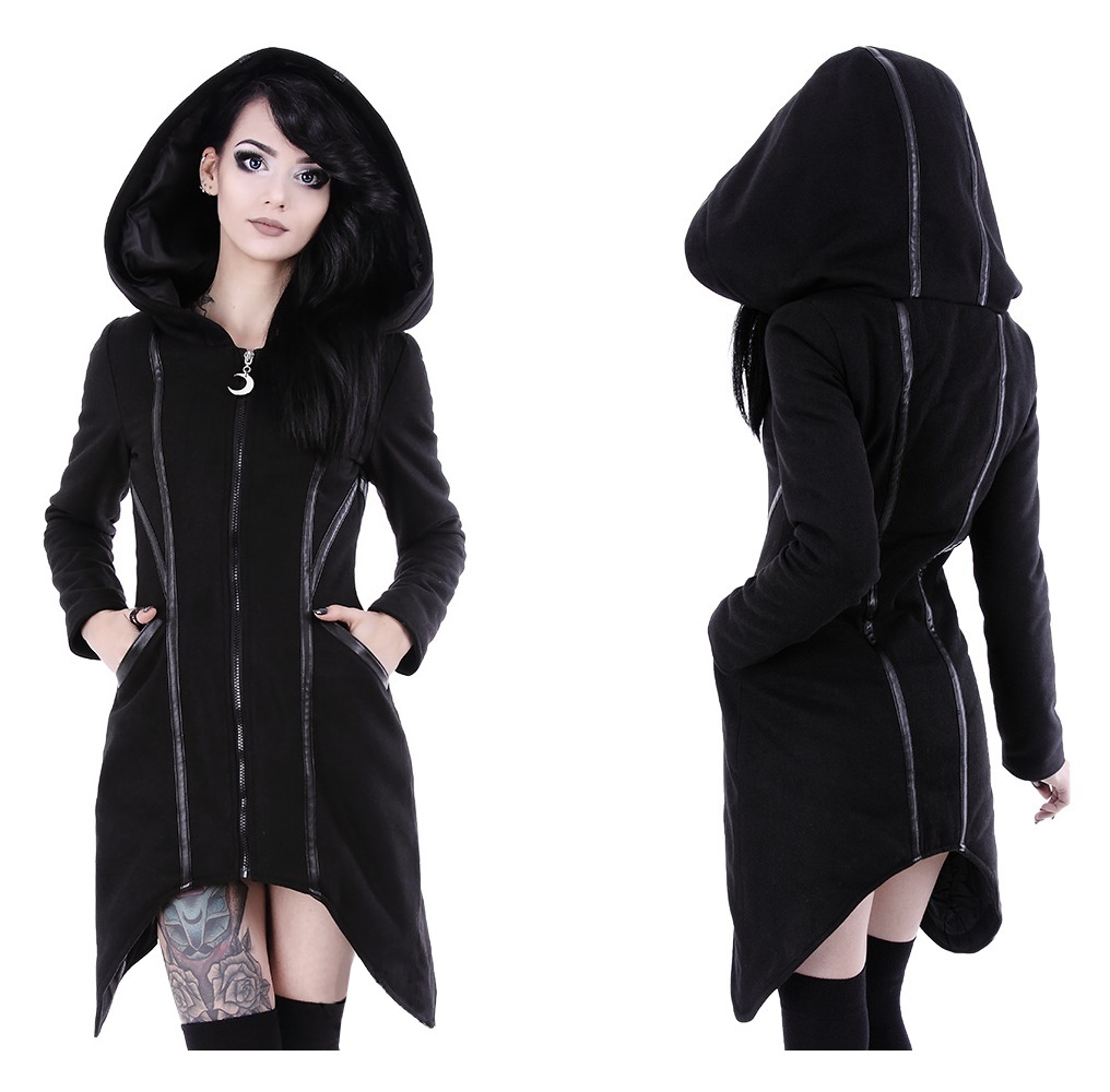 Assassin Coat Damen Wintermantel Winterjacke im Gothicstil Restyle Restyle Shop bei Gothic Onlineshop the