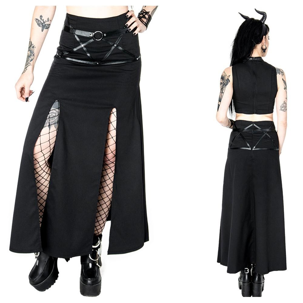 gothic rock villain skirt restyle