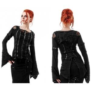 Gothicbluse zum Knöpfen Queen of Darkness
