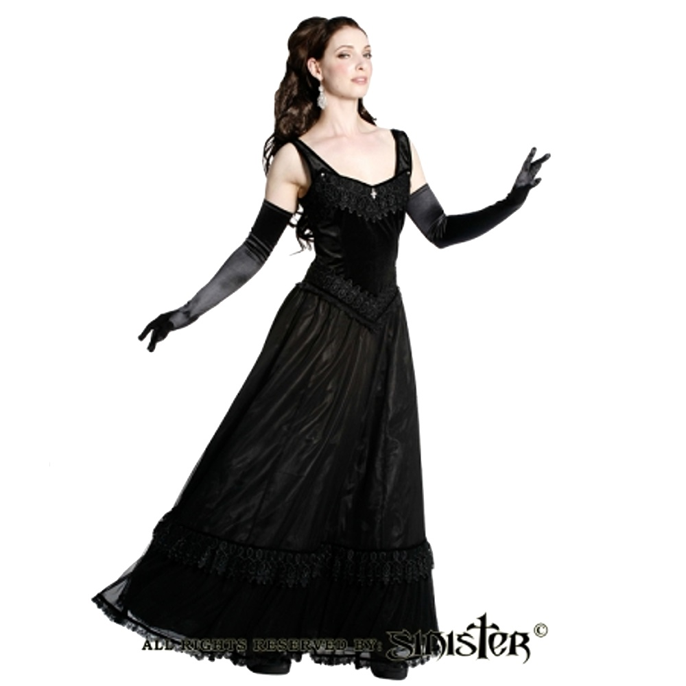 edles gothic kleid lang sinister plussize
