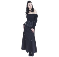 Rock mit hoher Taille Queen of Darkness