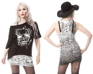 Skull Crow Twinset Top Vixxsin