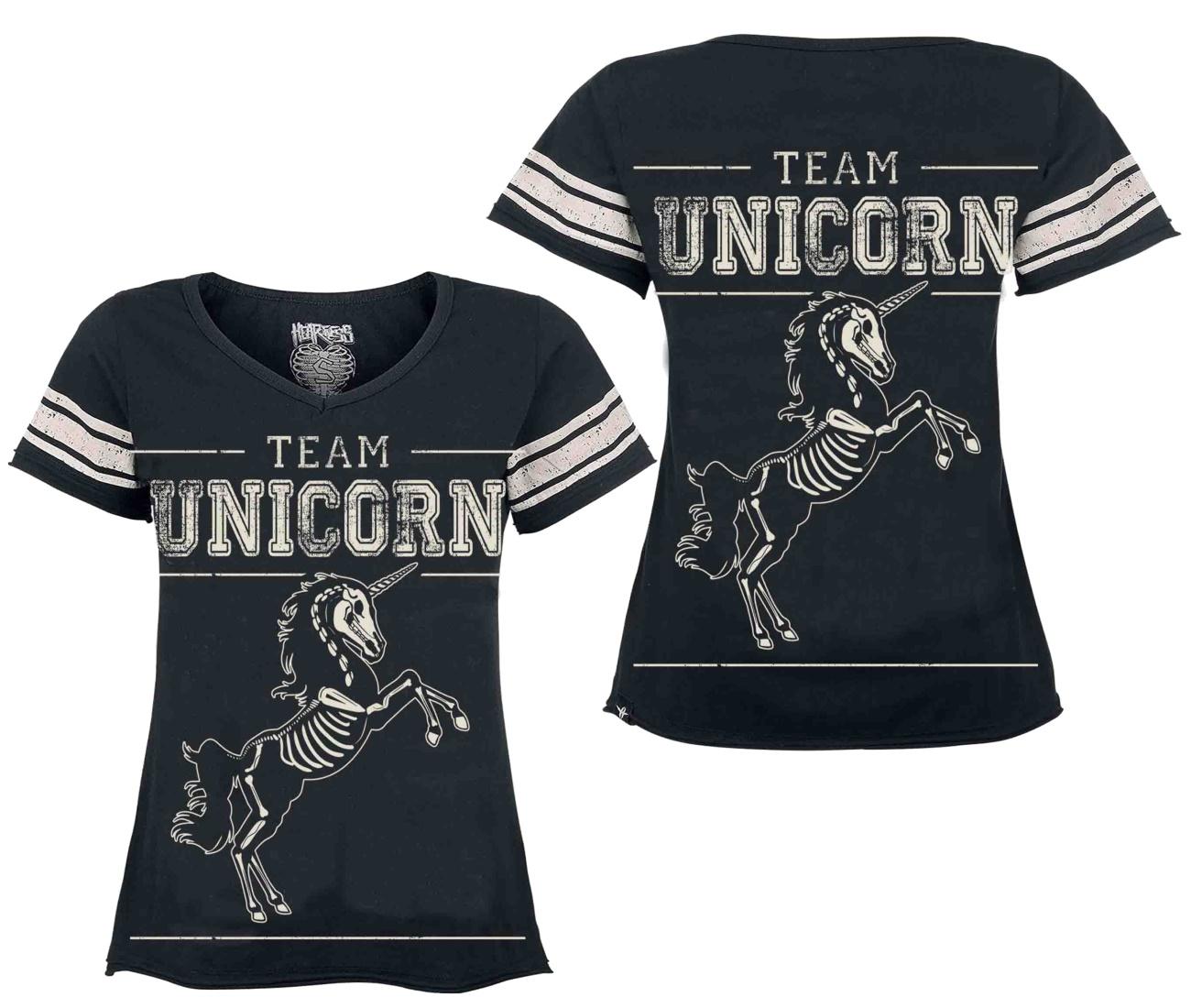 Damen T-Shirt Team Unicorn Heartless