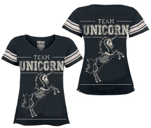 Damen T-Shirt Team Unicorn Heartless