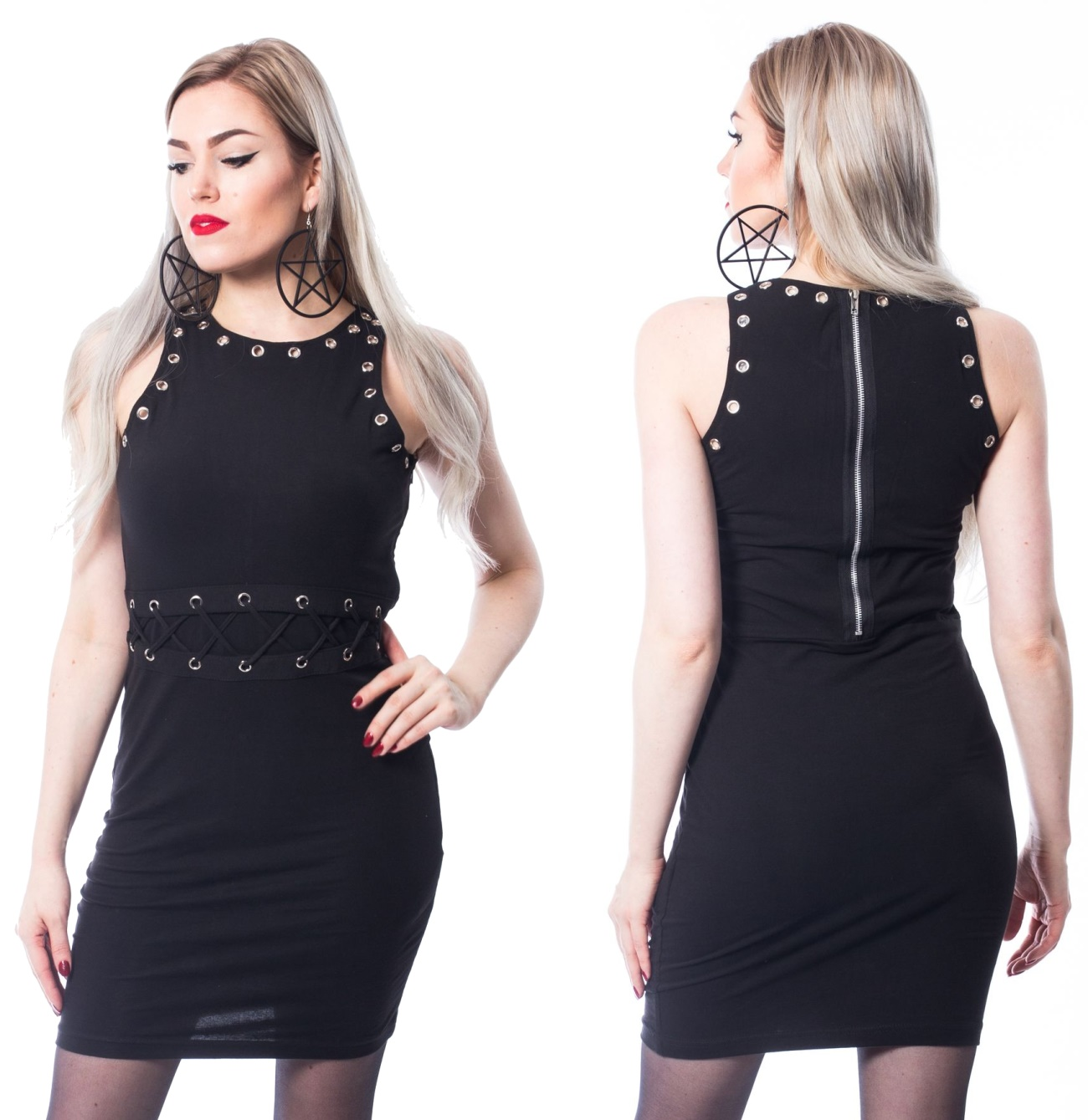 b6859a96d229 Figurbetontes Kleid Chemical Black - Chemical Black bei Gothic Onlineshop -  www.the-clash.de