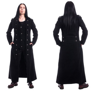 Herren Mantel Samt Walker Coat Vixxsin