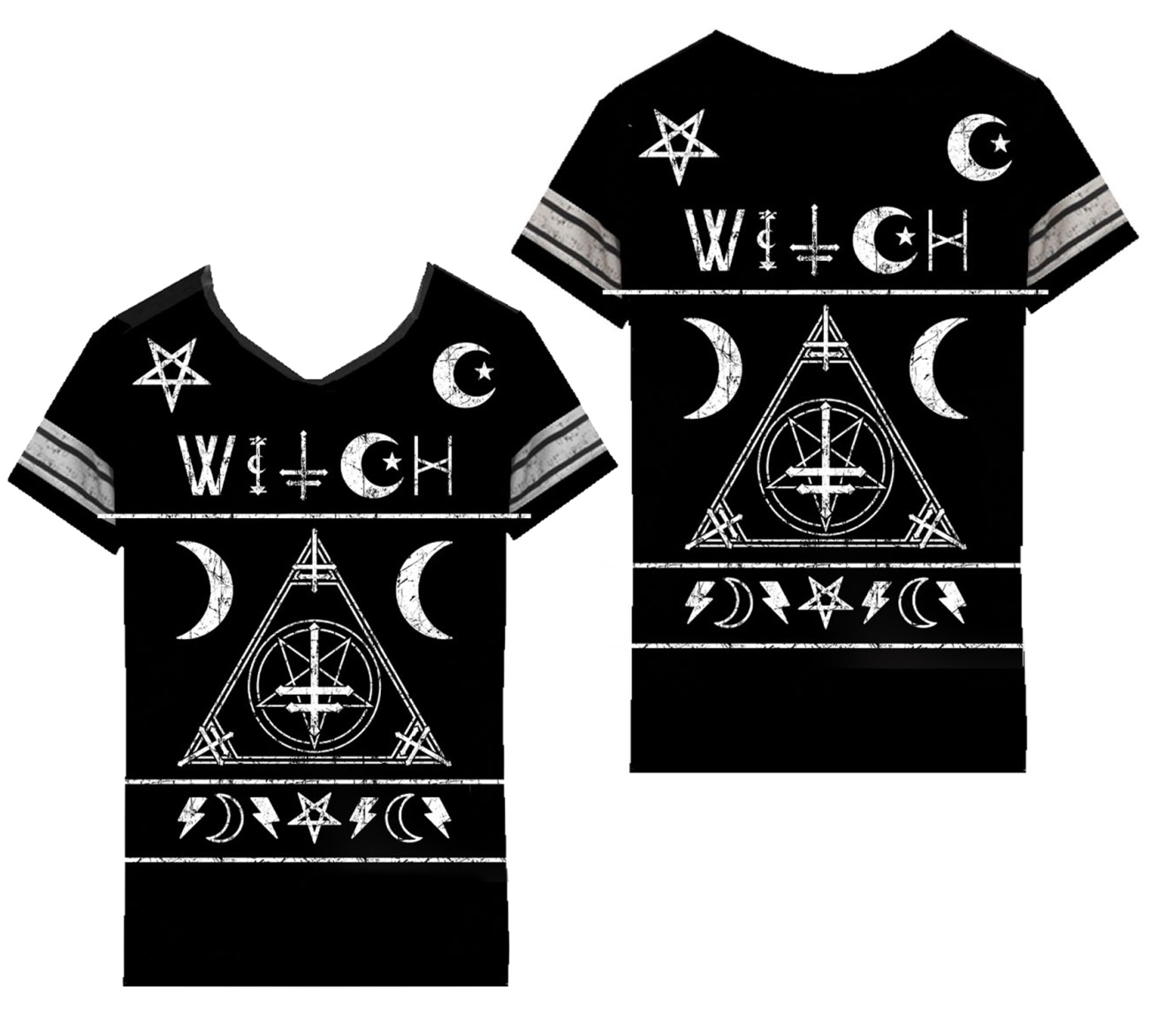 Damen T-Shirt Witch Varsity Heartless