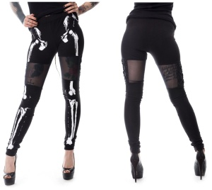 Leggings Bones Skelett Druck Vixxsin