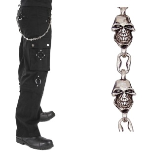 Hosenkette Schlüsselkette Totenkopf